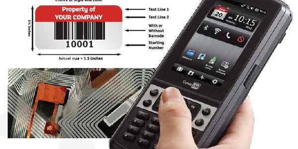 Asset management solution,Aluminium barcoded tags tags by Engsoft Valley solutions